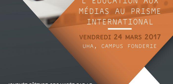 """24/03/2017 – Journée d'étude """"L'éducation aux médias au prisme international"""""""