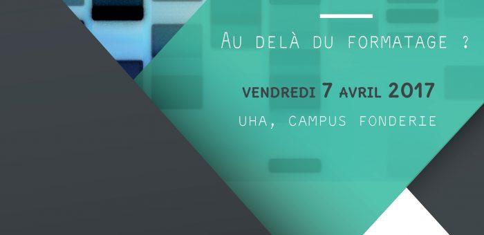 """07/04/2017 – Journée d'étude """"Identité numérique – Au-delà du formatage ?"""""""