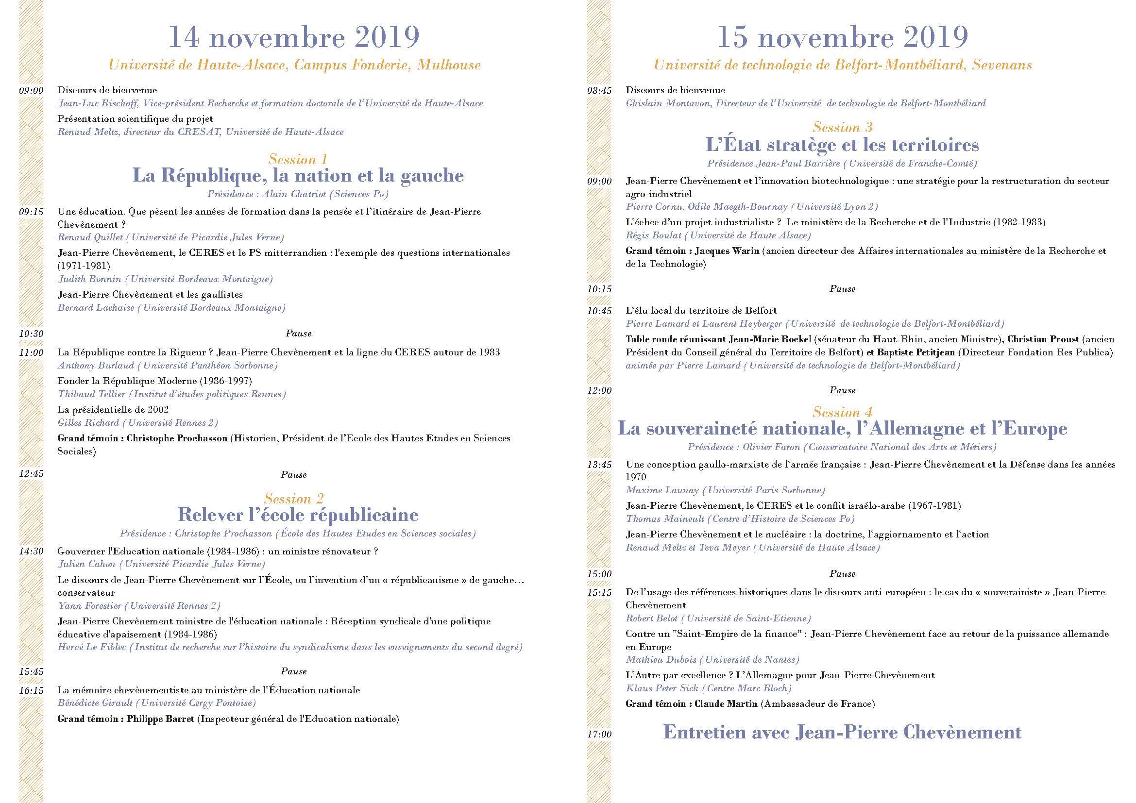 Programme JPC